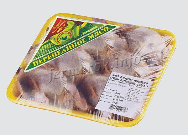 В холодильнике, в магазинной, пленочной упаковке, перепелиное мясо сохраняется около 2 дней