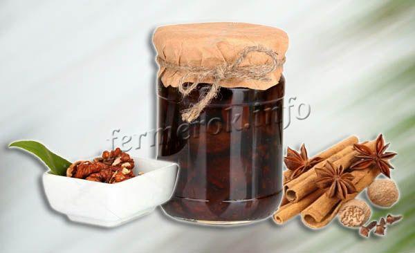 Пряное варенье из грецких орехов