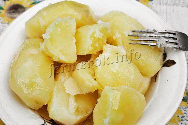 Картофель Удача можно варить, жарить, тушить. Мякоть очень нежная, сочная, но не водянистая